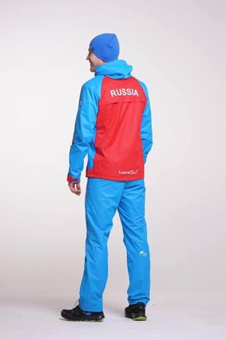 Nordski National мужской ветрозащитный костюм красный