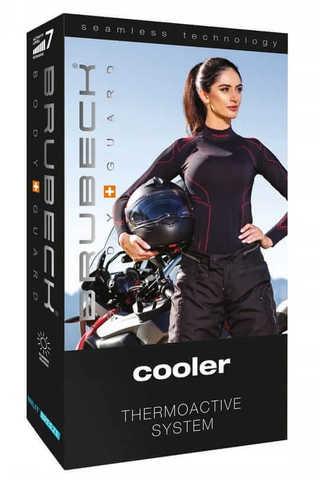 Brubeck Motor Cooler терморубашка женская черная-амарант