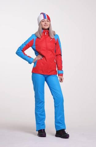 Nordski National ветрозащитный костюм женский red