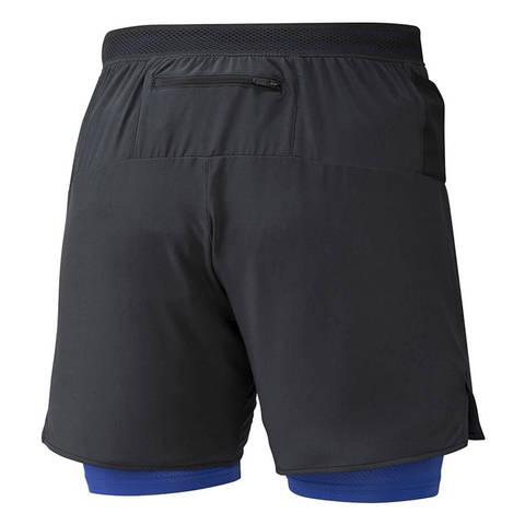 Mizuno Er 7.5 2 In 1 Short шорты для бега мужские черные-синие