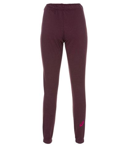 Asics Big Logo Sweat Pant спортивные брюки женские бордовые