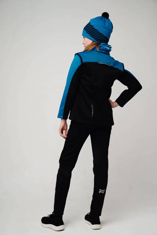 Nordski Jr Active Base детский беговой костюм blue-black