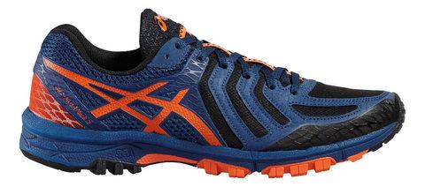 Кроссовки внедорожники мужские Asics Gel-FujiAttack 5 синие-оранжевые