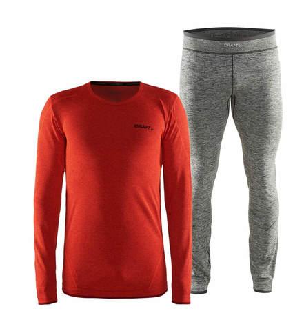 Craft Active Comfort комплект термобелья мужской orange-black