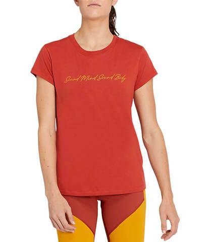 Asics Graphic Tee футболка для бега женская красная
