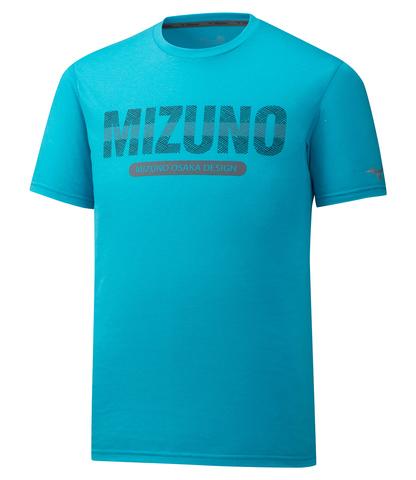 Mizuno Heritage Tee футболка для бега мужская голубая