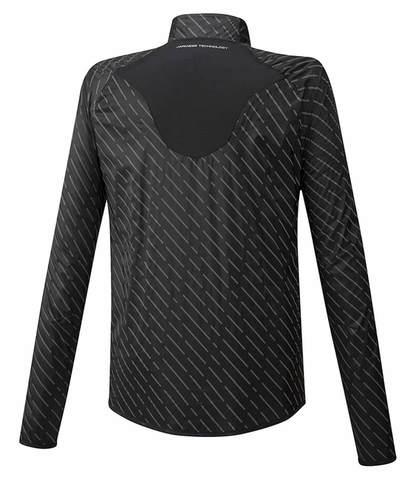 Mizuno Reflect Wind Jacket куртка для бега мужская черная