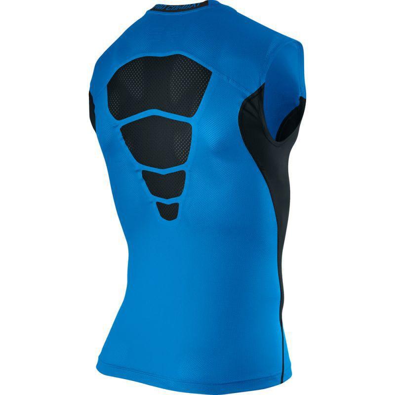 Футболка компрессионная Nike Hypercool Comp SL Top 1.2 голубая - 2