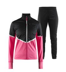 Craft Urban Storm Thermal женский костюм для бега зимой черный-розовый