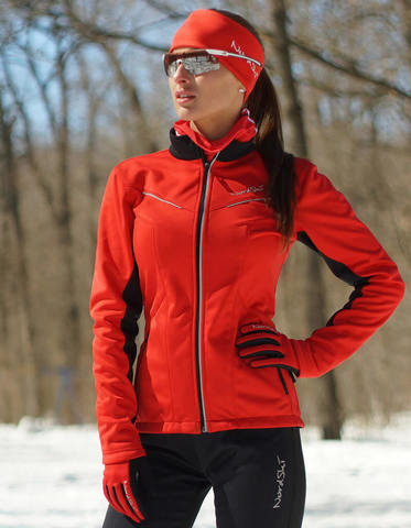 Nordski Premium женская лыжная куртка красная