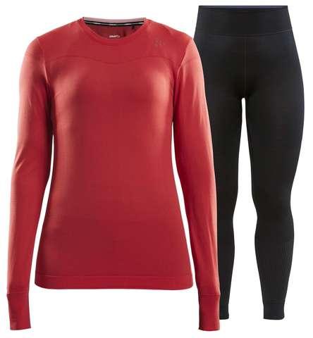 Craft Fuseknit Comfort комплект термобелья женский red-black