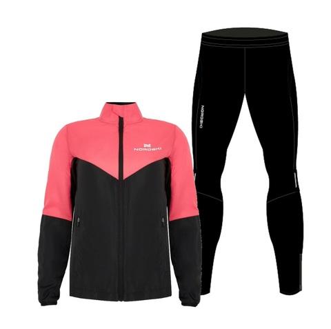 Nordski Sport Premium костюм для бега женский pink-black