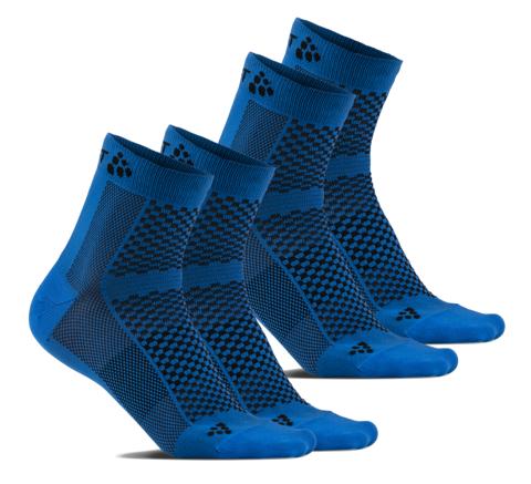 Комплект спортивных носков Craft Cool 2 пары синие