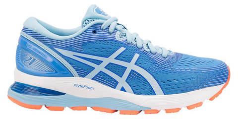 Asics Gel Nimbus 21 кроссовки для бега женские голубые
