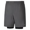 Mizuno Alpha 7.5 2 In 1 Short шорты для бега мужские серые - 1
