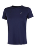 Asics Silver Ss Top футболка для бега женская синяя - 1