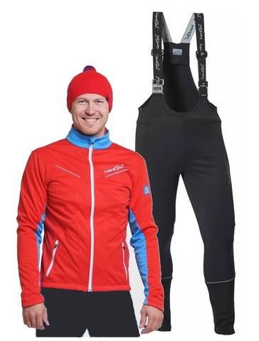 Nordski National Active разминочный лыжный костюм мужской Red-Black