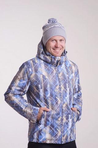 Nordski City мужская зимняя куртка синий-желтый