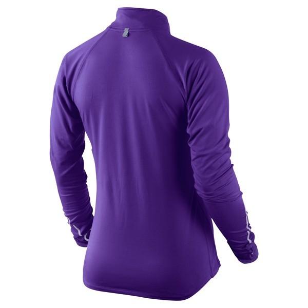 Футболка Nike Element H/Z (W) /Рубашка беговая синяя - 2