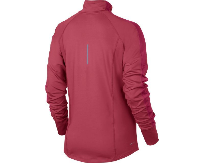 Футболка Nike Racer LS HZ Top (W) /Рубашка беговая красная - 2