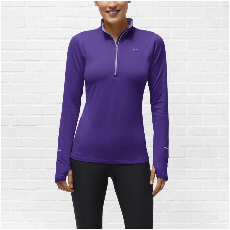 Футболка Nike Element H/Z (W) /Рубашка беговая синяя - 4