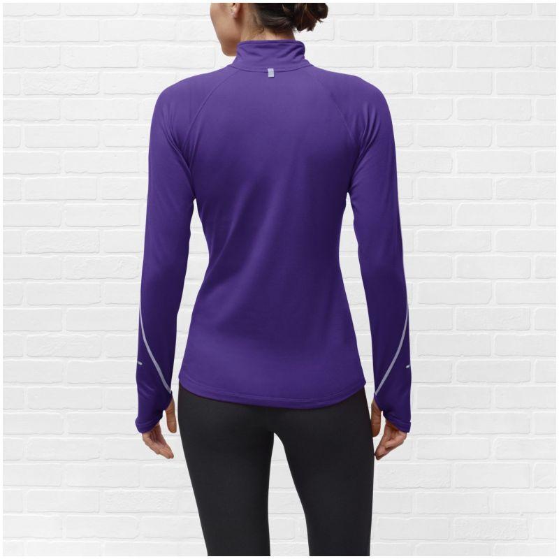 Футболка Nike Element H/Z (W) /Рубашка беговая синяя - 5