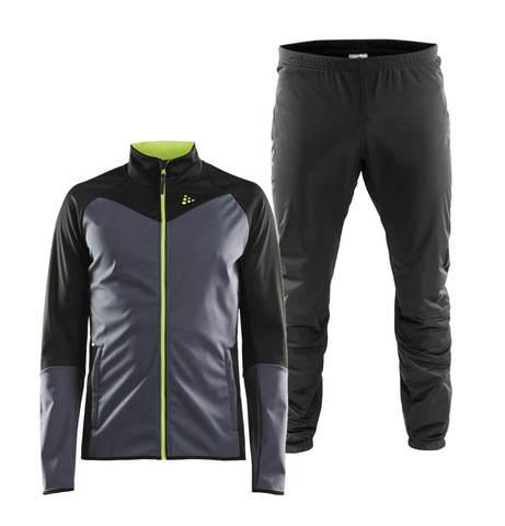 Craft Glide Storm лыжный костюм мужской grey-black