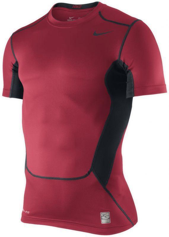 Футболка компрессионная Nike Hypercool Comp SS Top красная