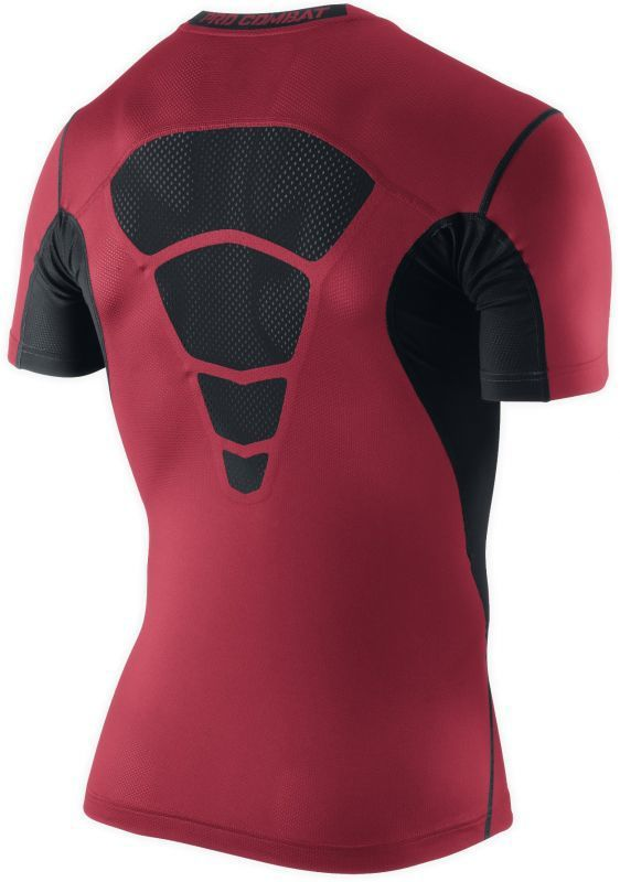 Футболка компрессионная Nike Hypercool Comp SS Top красная - 2