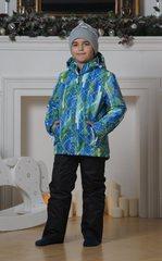 Nordski City детский теплый костюм синий-лайм-черный