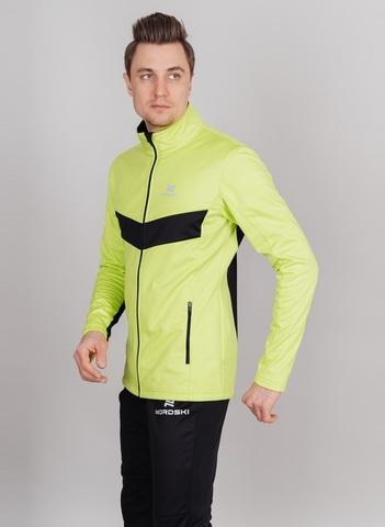 Nordski Base мужской беговой костюм lime-black