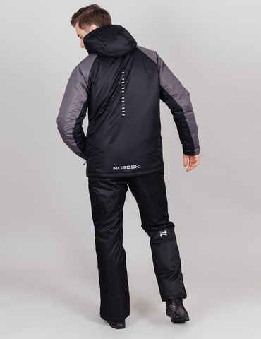 Nordski Premium Sport теплая лыжная куртка мужская grey
