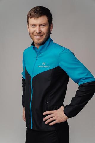 Nordski Sport Motion костюм для бега мужской light blue-black