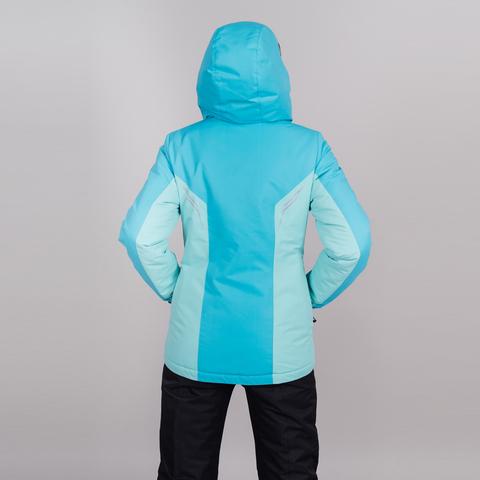 Теплая лыжная куртка женская Nordski Base aquamarine-sky