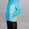 Теплая лыжная куртка женская Nordski Base aquamarine-sky - 4