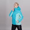 Теплая лыжная куртка женская Nordski Base aquamarine-sky - 3