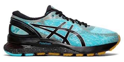 Asics Gel Nimbus 21 Winterized утепленные кроссовки для бега женские черные-голубые