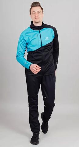 Nordski Premium лыжный костюм мужской blue-black