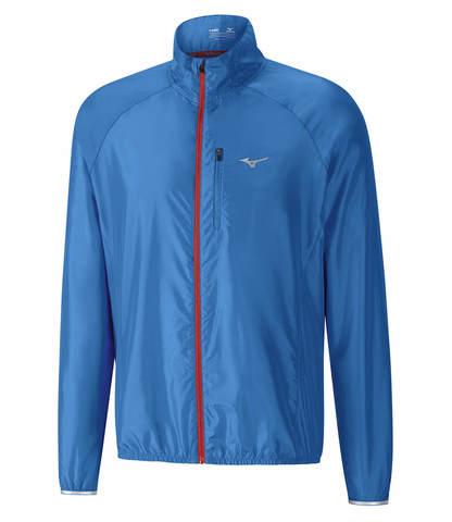 Куртка для бега мужская Mizuno Impulse Impermalite синяя