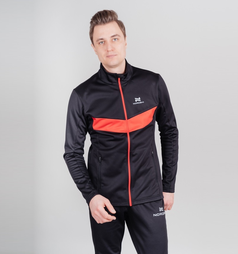 Nordski Base тренировочная куртка мужская black-red