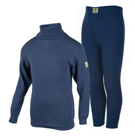 Janus Wool Merino детский комплект термобелья синий