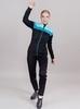 Лыжный костюм женский Nordski Drive black-mint - 1