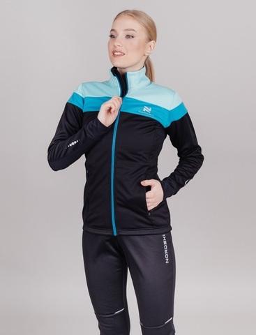 Лыжный костюм женский Nordski Drive black-mint