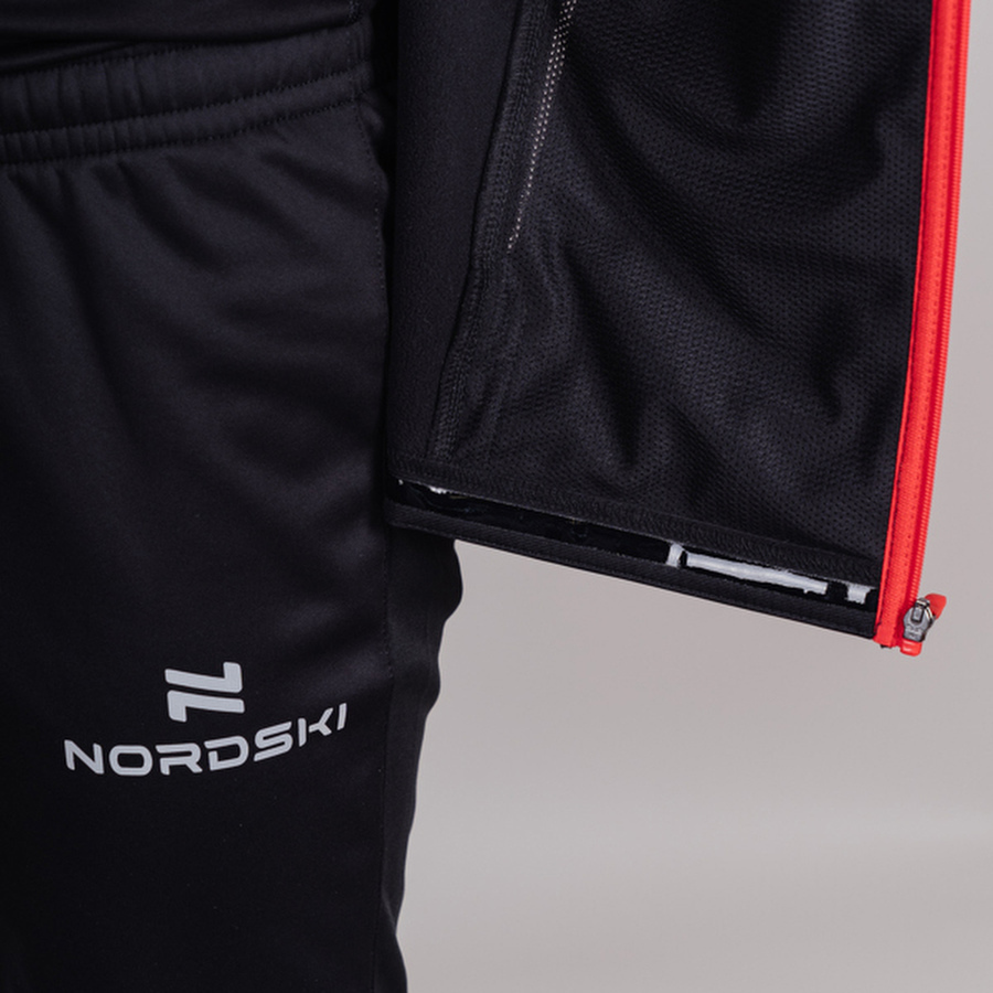 Nordski Base тренировочная куртка мужская black-red - 6