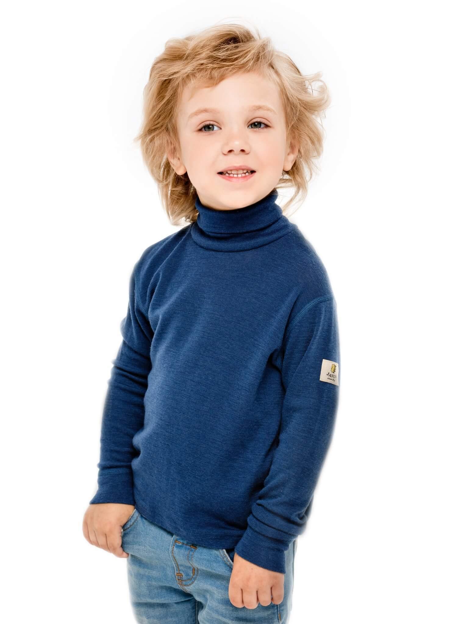 Janus Wool Merino детский комплект термобелья синий - 2