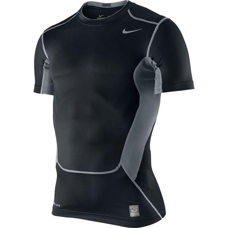 Футболка компрессионная Nike Hypercool Comp SS Top чёрная