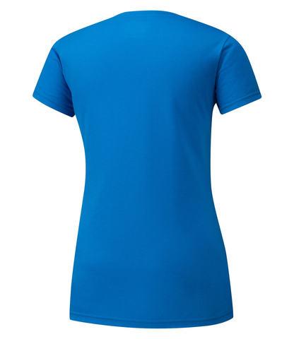 Mizuno Heritage 06 Tee футболка для бега женская синяя