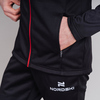 Nordski Base тренировочная куртка мужская black-red - 5