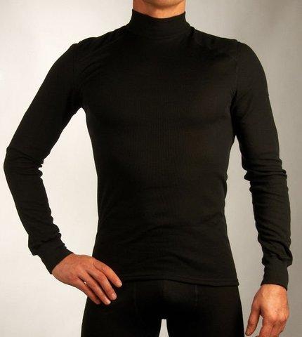 Odlo Warm мужская терморубашка с воротником-стойкой черная