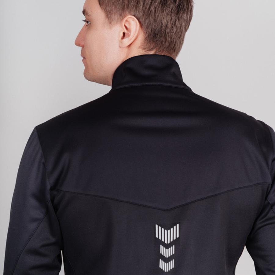 Nordski Base тренировочная куртка мужская black-red - 4